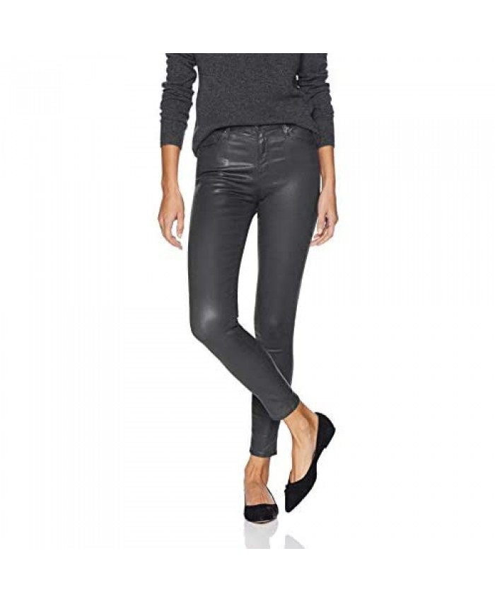 AG Adriano Goldschmied Women's Farrah Leatherette High-Rise Skinny Fit Ankle Pant