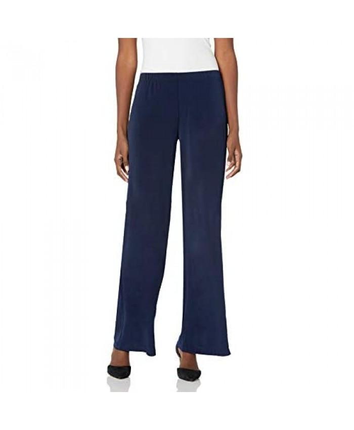 AGB Women's Soft Knit Palazzo Wide Leg Pant (Petite Standard and Plus Sizes)
