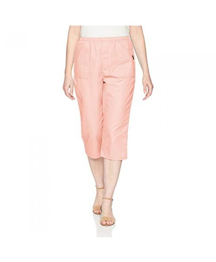 Chic Classic Collection Women's Cotton Pull-on Utility Pocket Capri with Elastic Waist