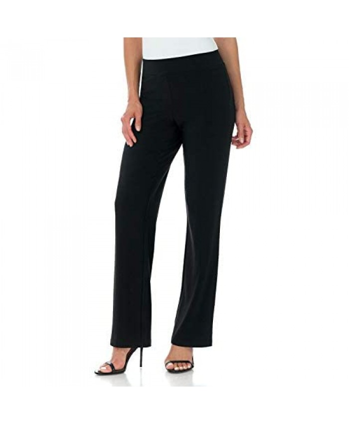 Rekucci Travel in Style Women's Soft Knit Classic Straight Leg Pant