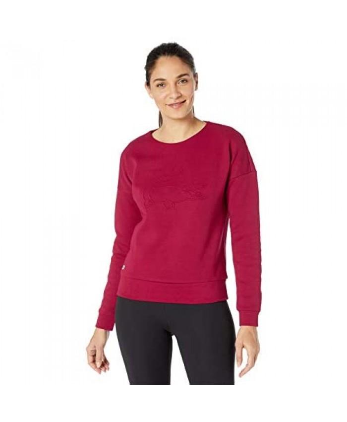 Lacoste Womens Sport Long Sleeve Double Face Big Croc Sweatshirt
