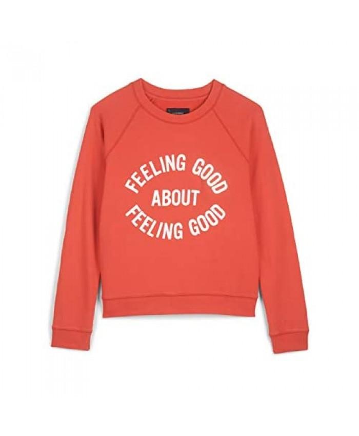 Lucky Brand Women's Long Sleeve Crew Neck Feeling Good Graphic Sweatshirt