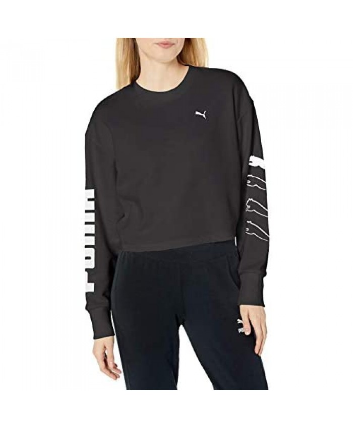 PUMA Women's Relaxed fit Rebel Crew Sweat Tr