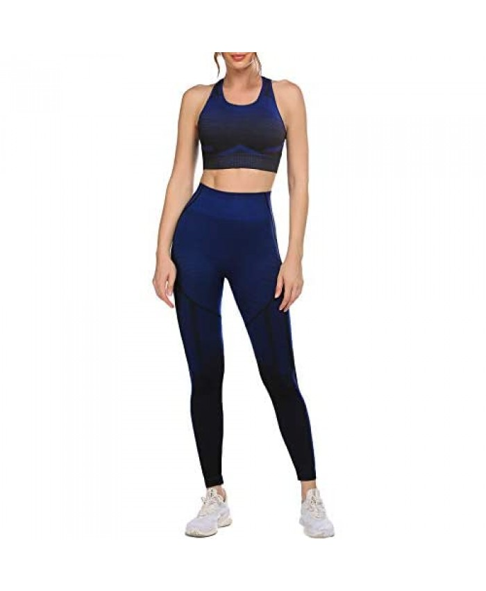 COOrun Workout Sets for Women 2 Piece Yoga Outfit Athletic Set Gym Clothes