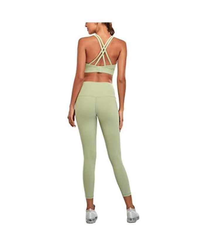 Exercise Outfits for Women 2 Pieces Seamless Yoga workout set Sports Bra and Leggings Set Tracksuits 2 Piece