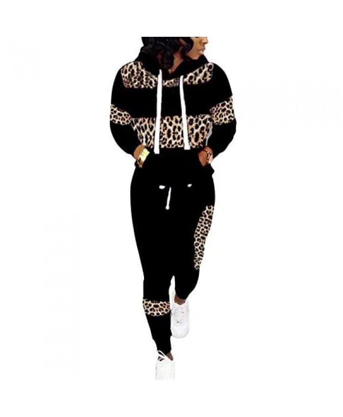 Jogging Suits for Women - Two Piece Sweatsuit Pullover Hoodie + Long Pants Tracksuit Set Jumpsuits
