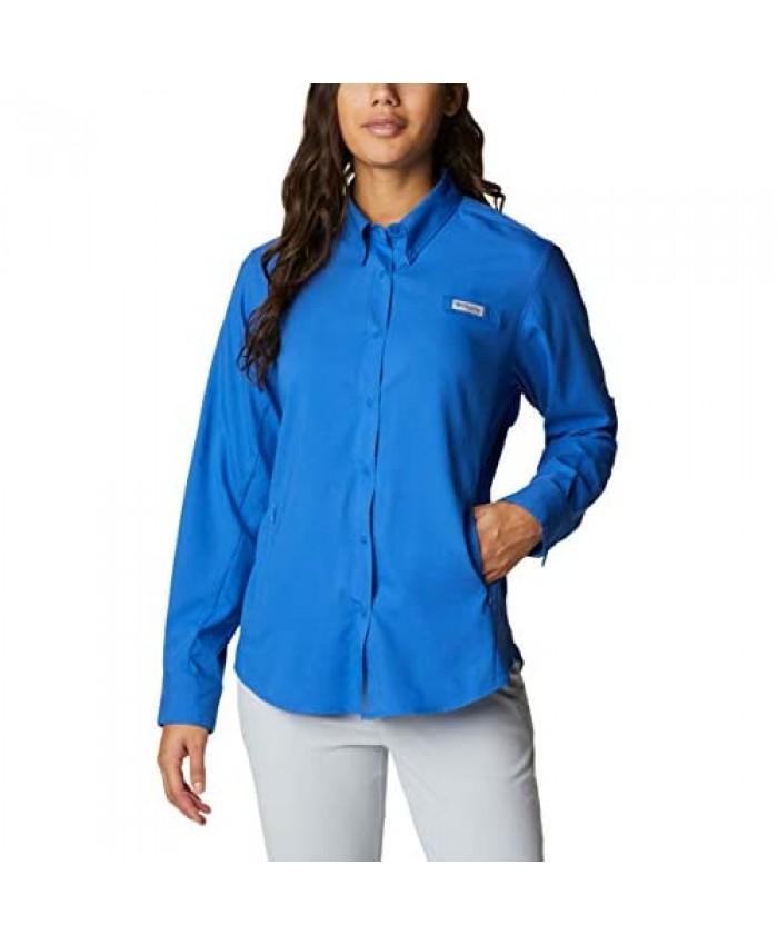 Columbia Women's Tamiami II Long Sleeve Shirt Vivid Blue Large