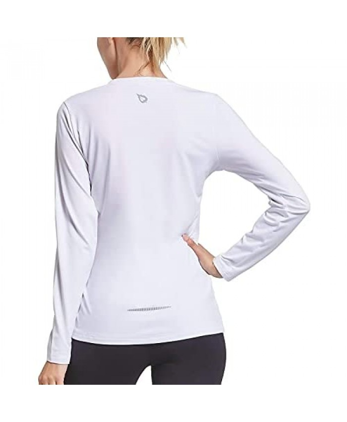 Women's Long Sleeve Sun Protection Shirts Quick Dry Running Hiking Workout SPF UV Rash Guard Shirts