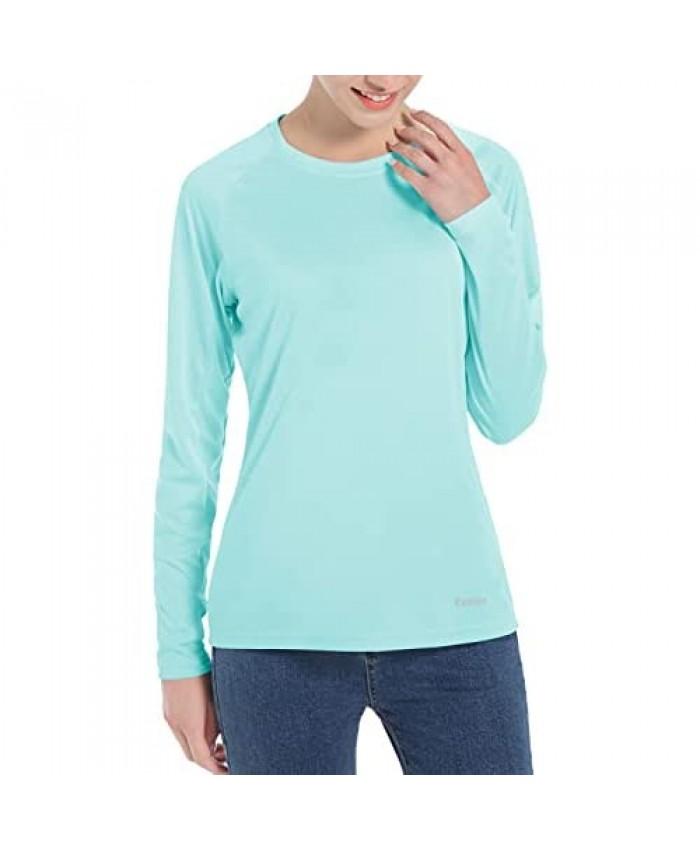 Women's UPF 50+ Sun Protection UV Shirts - Long Sleeve Outdoor Hiking Fishing Swim SPF Rash Guard T-Shirt with Thumbhole