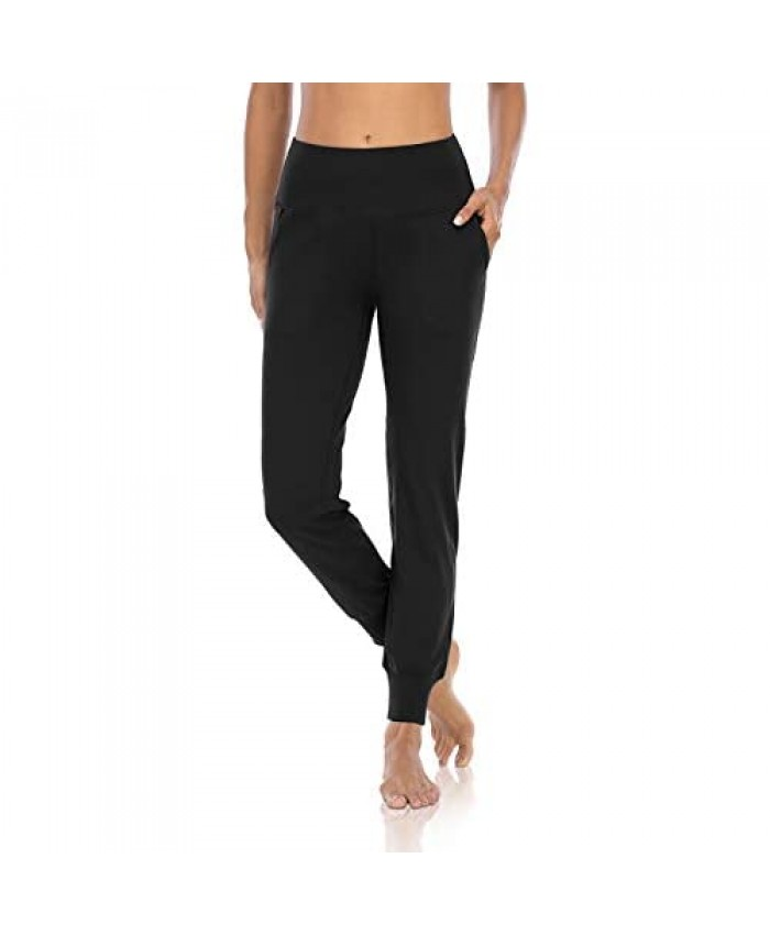 DIBAOLONG Womens Yoga Sweatpants High Waist Active Workout Joggers Lightweight Tapered Lounge Pants with Pockets
