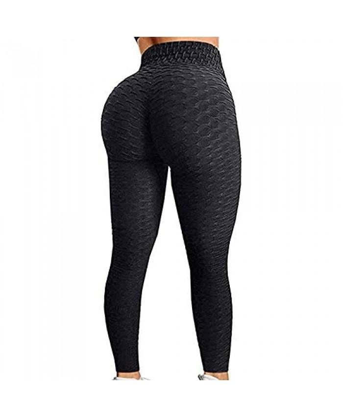 DOBKDTUYS Famous TIK Tok Leggings Women's Ruched Butt Lifting Yoga Pants