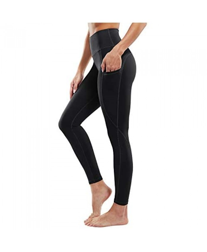 G4Free High Waist Yoga Pants with Pockets Leggings for Women Tummy Control Yoga Tights Running Workout Pants Pockets