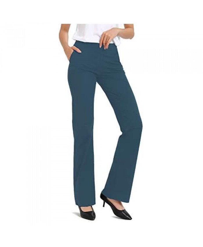 "Safort 28"" 30"" 32"" 34"" Inseam Regular Tall Dress Bootcut Yoga Pants Workout Pants"