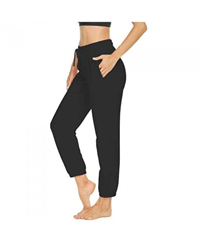 Sarin Mathews Womens Sweatpants Loose Workout Running Joggers Drawstring Comfy Lounge Pants with Pockets