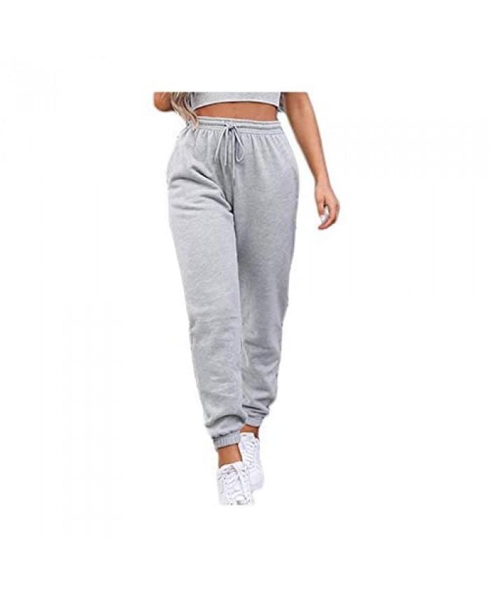 Sweatpants for Teen Girls Women's High Waisted Joggers Summer Workout Baggy Yoga Pants Cinch Bottom Trousers