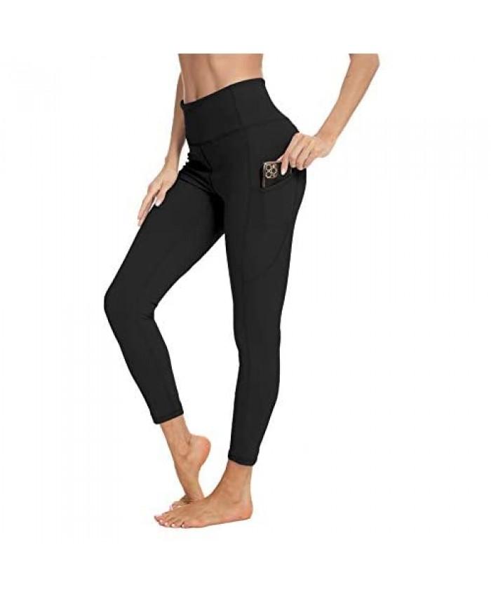 BATHRINS Workout Leggings 7/8 High Waist Yoga Pants for Women Tummy Control 4 Way Stretch Yoga Legging