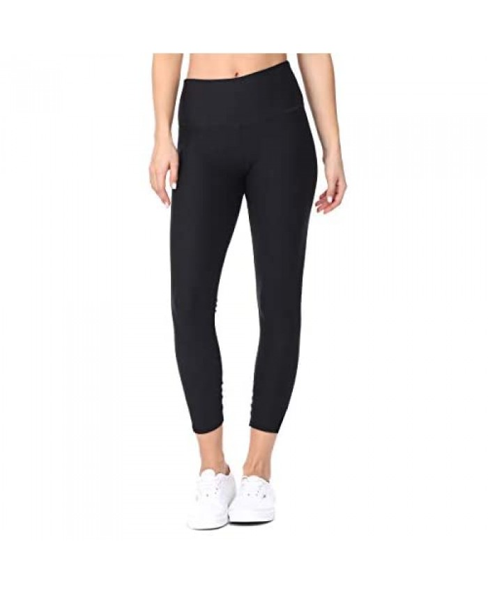 EVCR High Waisted Capri Leggings for Women - Athletic Tummy Control Yoga Pants for Workout