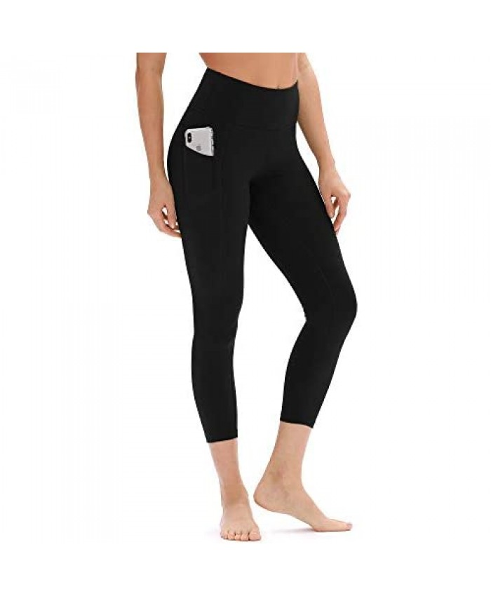 icyzone Yoga Pants for Women - High Waisted Workout Leggings with Pockets Athletic Capris Exercise Tights