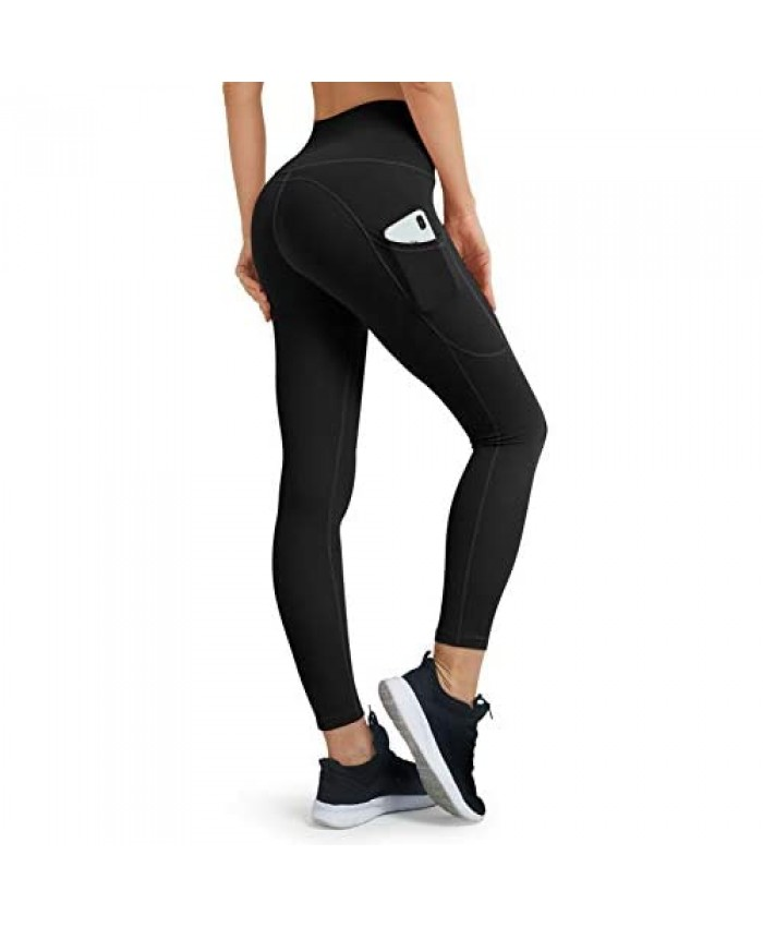 JOYGO Leggings with Pockets for Women High Waisted Womens Yoga Leggings Tummy Control Non See Through Workout Pants