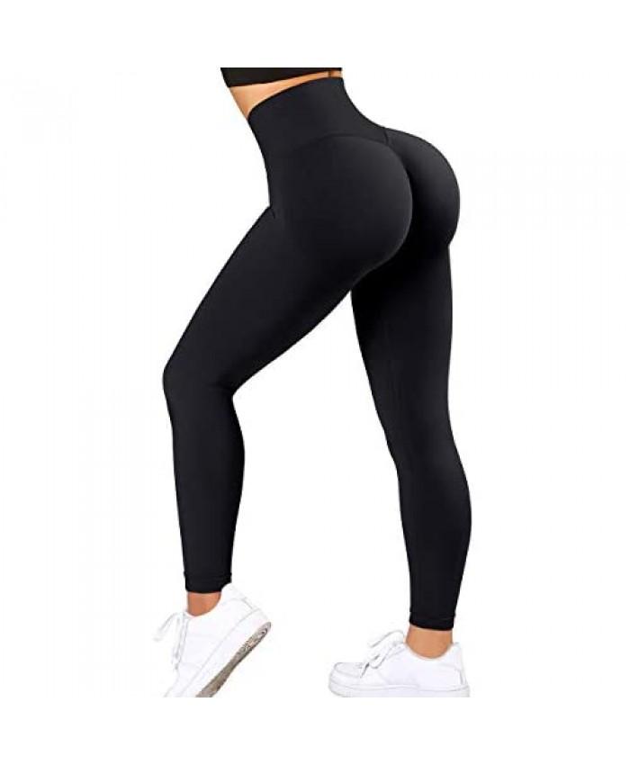 OMKAGI Women TIK Tok Scrunch Butt Lifting Leggings Seamless High Waisted Workout Pants