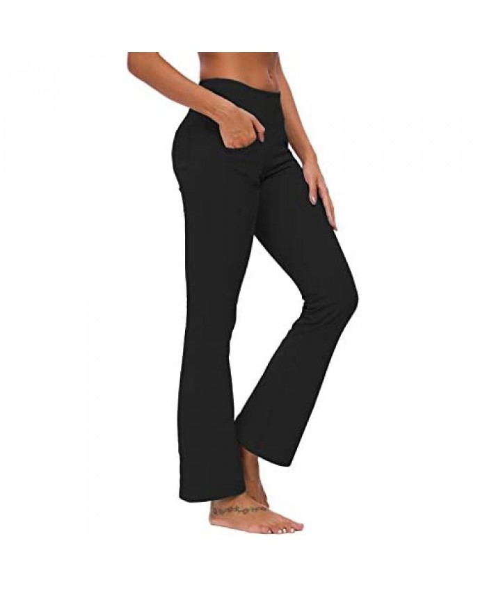 Ourcan Bootcut Yoga Pants for Women with Pockets Flare Yoga Pants High Waist
