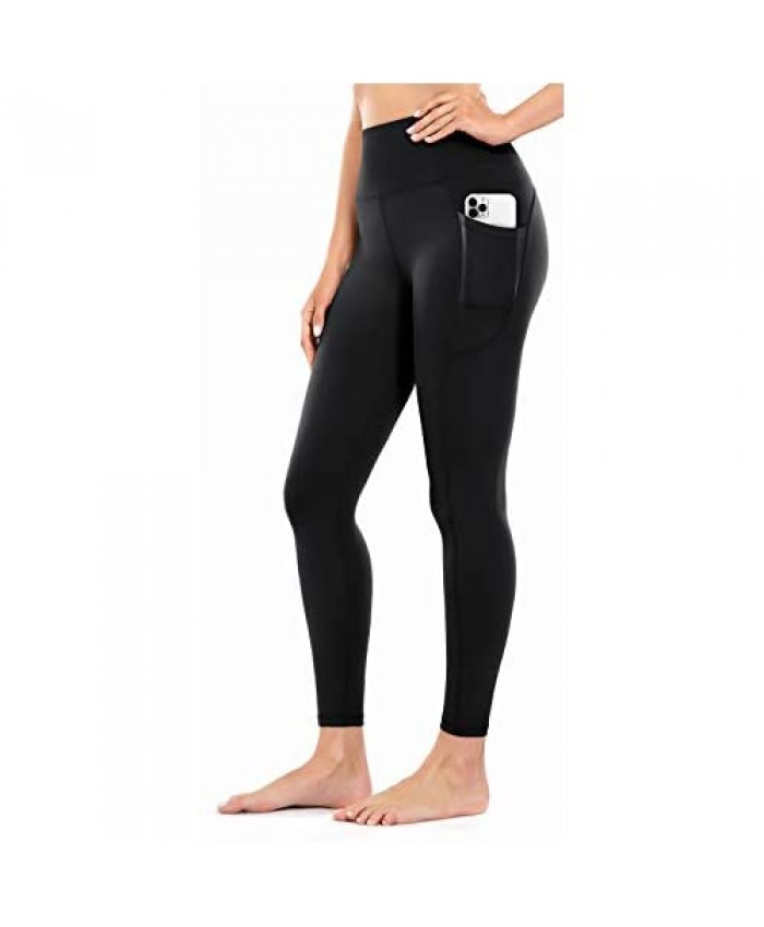 OVRUNS Yoga Pants for Women Tummy Control High Waist Yoga Leggings for Workout Running Exercise with Pockets