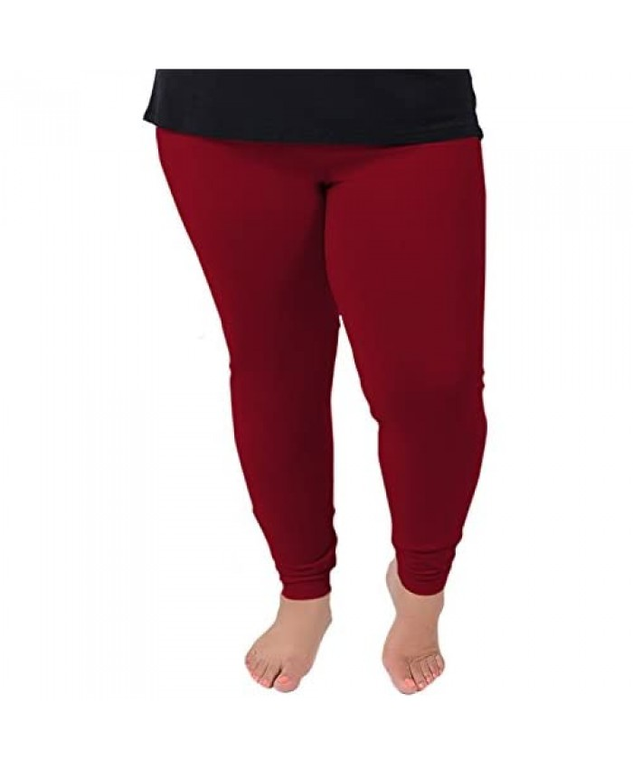 Women's Cotton Plus Size Leggings | Stretchy | X-Large - 7X | Made in The USA