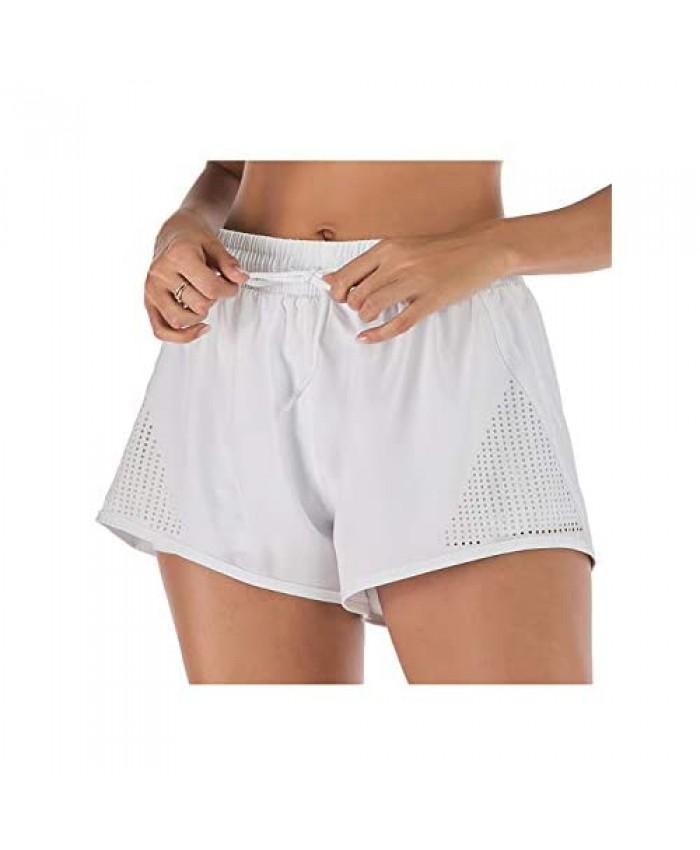 Anna-Kaci Women's Running Shorts Gym Athletic Shorts Pockets