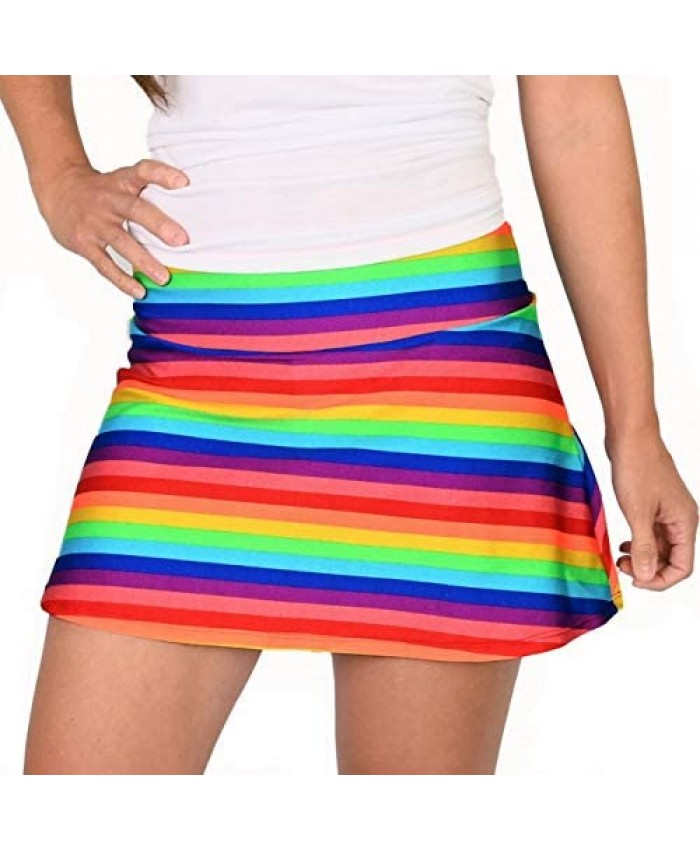 Queen of the Court Rainbow Love is Everything Tennis Skirt | Athletic Pickleball Skort