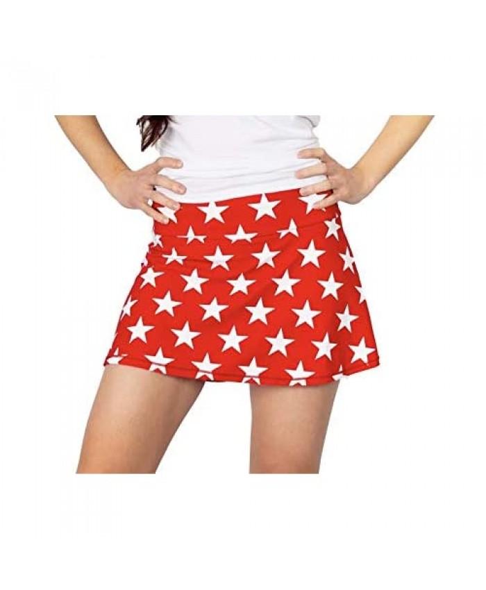 Queen of the Court Red and White Americana Tennis Skirt   Pickleball Skort   Running Skort