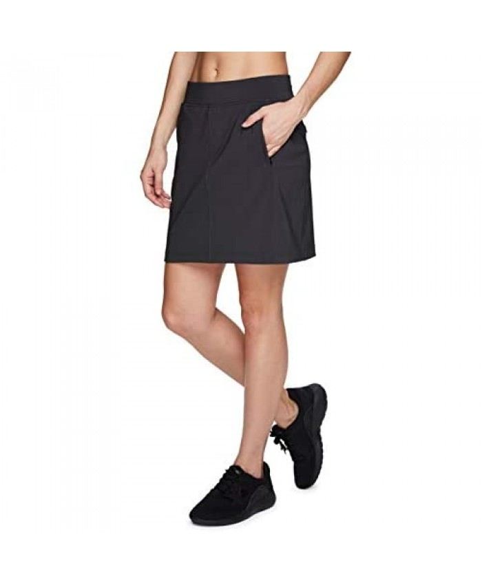 Avalanche Women's Quick Dry Woven Skort with Inner Bike Short and Zipper Pockets