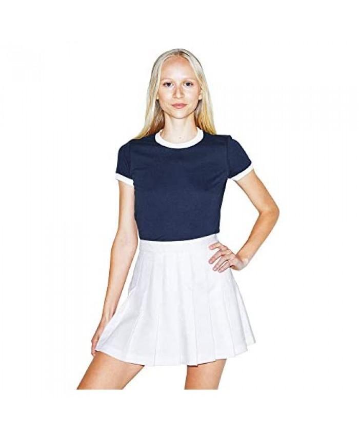 American Apparel Women's 50/50 Classic Ringer Short Sleeve T-Shirt