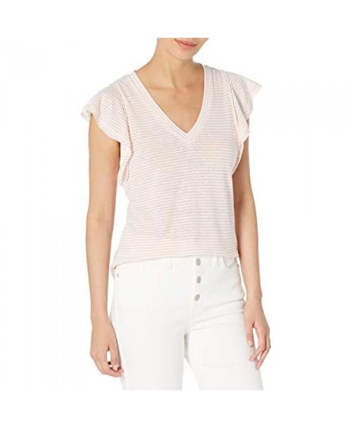 Ella Moss Women's Gemma Ruffle Sleeve Tee Shirt