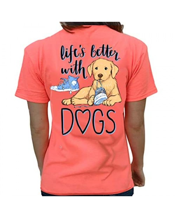 Southern Attitude Life is Better with Dogs Women's T-Shirt