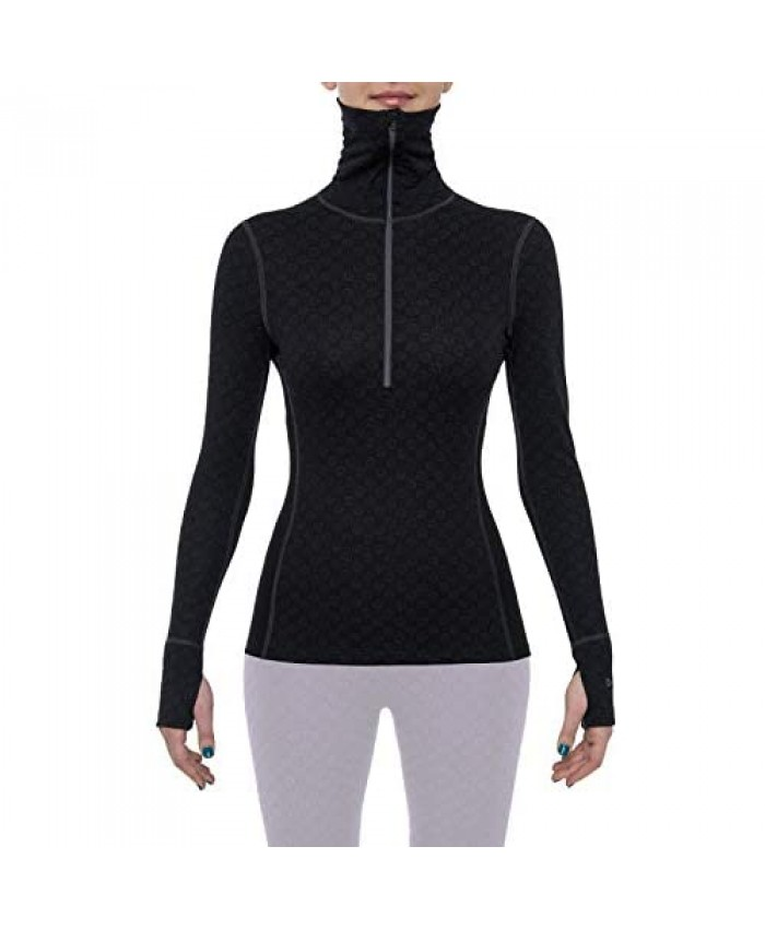 Thermowave Xtreme Womens Merino Wool Base Layer Turtle Neck ½ Zip - Thermo Shirts