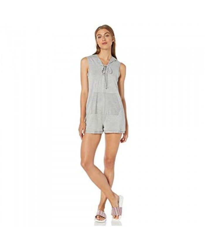 BCBGeneration Women's Lace-up Hoodie Romper