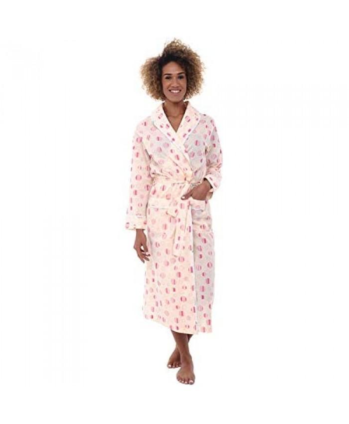 Alexander Del Rossa Women's Lightweight Cotton Kimono Robe Cozy Summer Bathrobe for Her