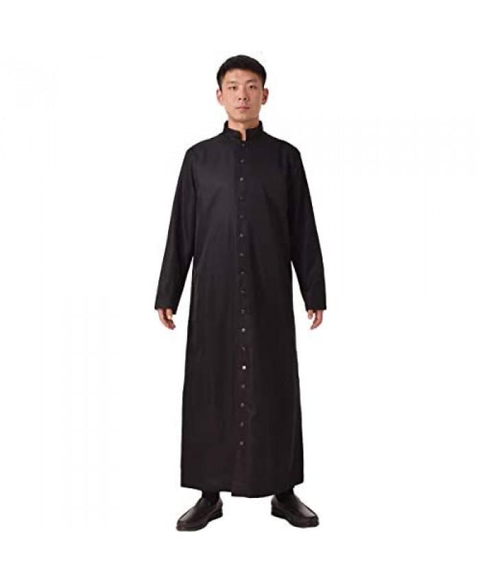BLESSUME Roman Cassock Robe Liturgical Vestments Black