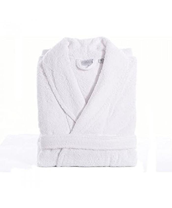 Linum Home Textiles 100% Turkish Cotton Unisex Terry Cloth Bathrobe White Large/XL