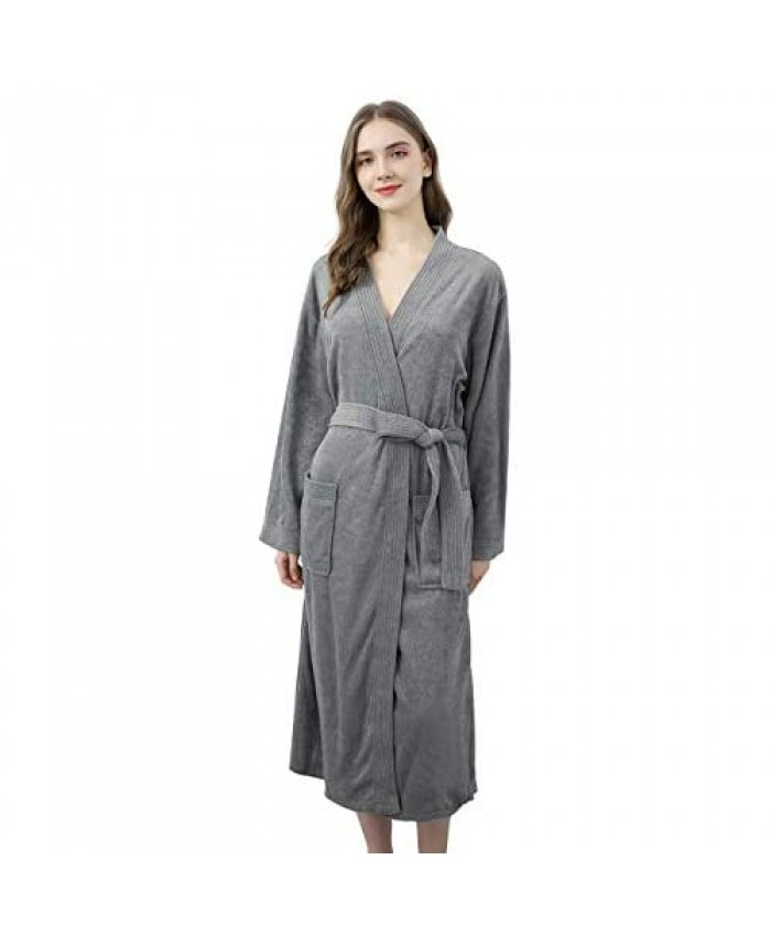 Terry Cloth Robes for Women Towel Bathrobes Long Soft Absorbent Robes Home Hotel Spa Robe Sleepwear Pajamas