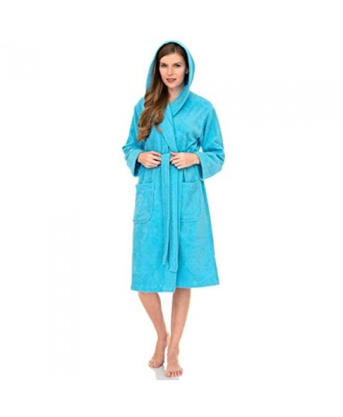 TowelSelections Women's Hooded Robe Turkish Cotton Terry Cloth Bathrobe