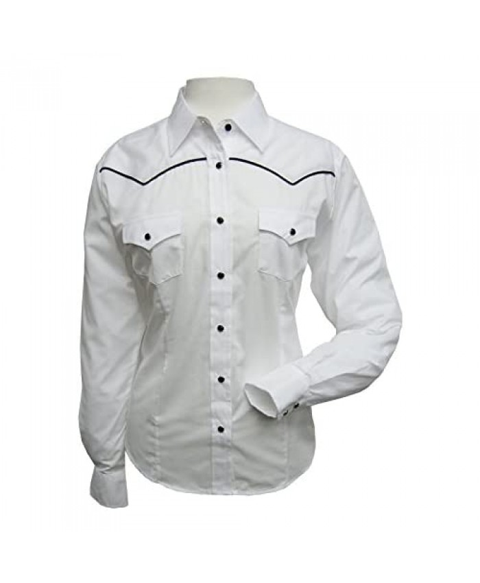 ELY CATTLEMAN Women's Long Sleeve Western Shirt with Contrast Piping