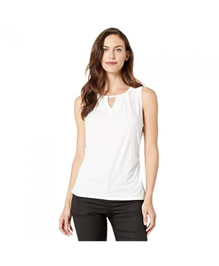 Rafaella Women's Ruched Sleeveless Blouse