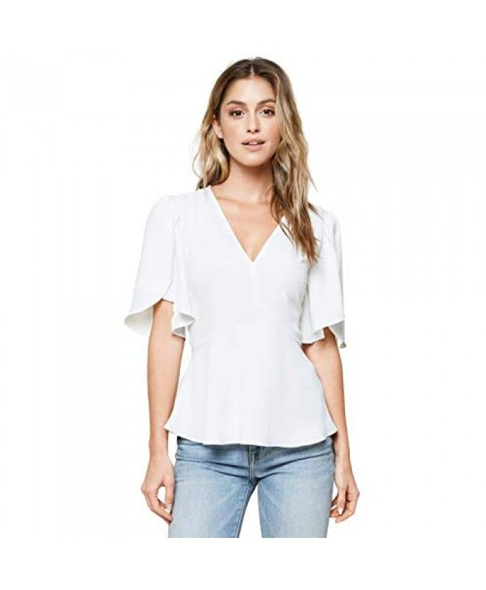 Sugar Lips Women's All Eyes on You Trumpet Sleeve Blouse