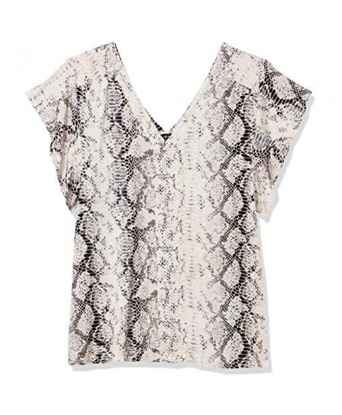 Tribal Women's Top Shirt Blouse Ruffle Double Vneck Stretch