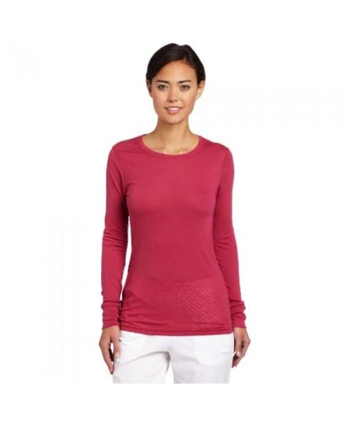 Carhartt Women's Scrubs Long-Sleeve Burnout Jersey T-Shirt