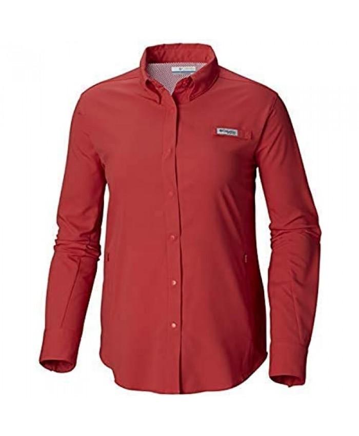 Columbia Women's PFG Tamiami II Long Sleeve Shirt Sunset Red 3X