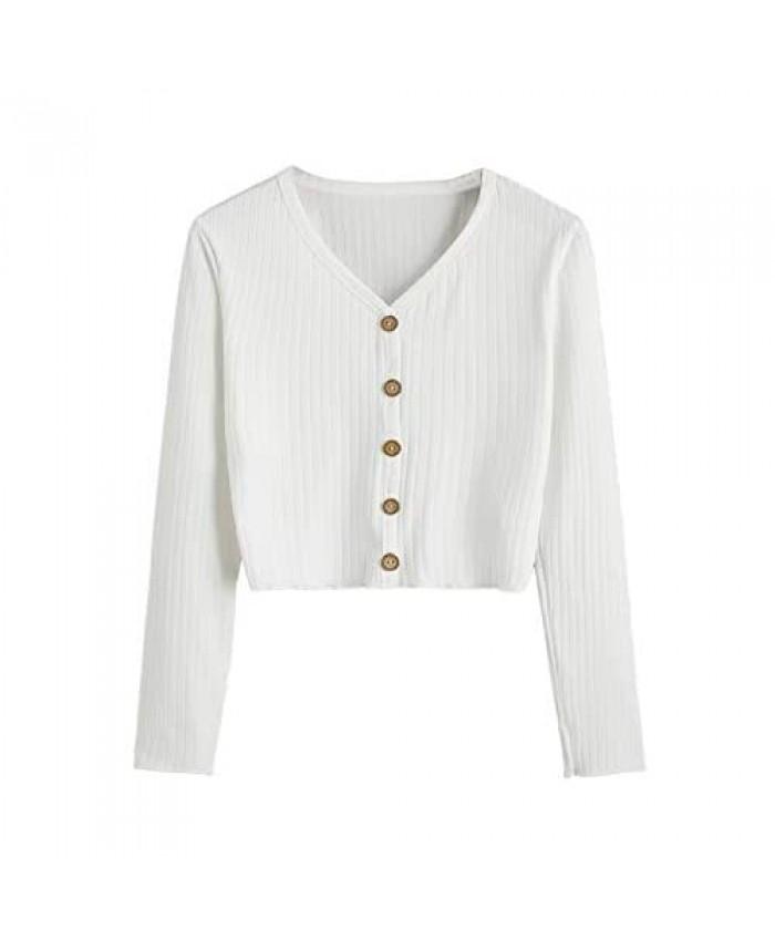 Floerns Women's V Neck Long Sleeve T-Shirt Top