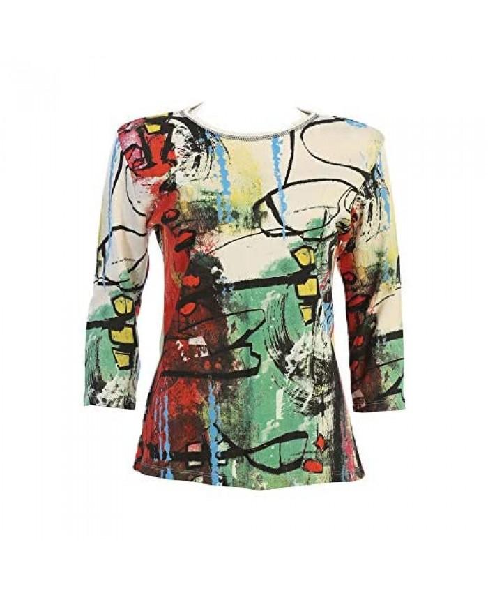 Jess & Jane Women's Kelly Cotton Tee Shirt Top