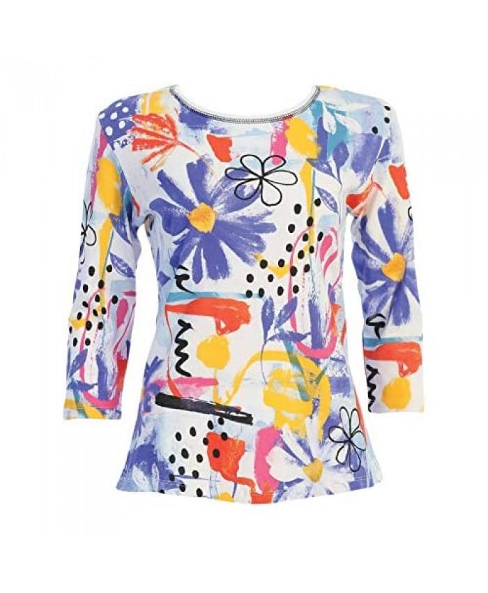 Jess & Jane Women's Lulu Cotton Tee Shirt Top